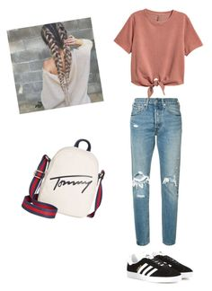 Ouftits 2017 by celia11v on Polyvore featuring polyvore, fashion, style, Levi's, adidas Originals, Tommy Hilfiger and clothing