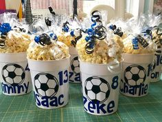 Yourself From Injuries During Soccer Training Personalized cups with popcorn for soccer tournament team treat. ⚽️⚽️Personalized cups with popcorn for soccer tournament team treat. Soccer Treats, Soccer Gifts, Team Gifts, Kids Soccer Snacks, Sports Snacks, Cheer Gifts, Team Snacks, Soccer Cup, Soccer Boys