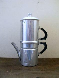 Neapolitan Espresso Flip Coffee Maker, Aluminum, Made in Italy, Retro Napoletana