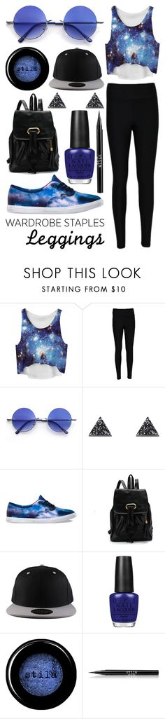 """Untitled 200"" by meaganmuffins ❤ liked on Polyvore featuring WearAll, Retrò, Wolf & Moon, Vans, OPI, Stila, galaxy, Leggings and WardrobeStaples"
