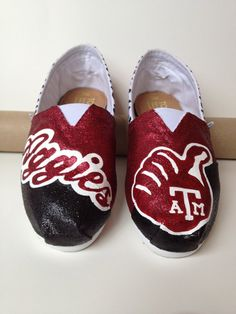 Custom TOMS or BOBS  Texas Aggies by laceykayecreations on Etsy, $125.00