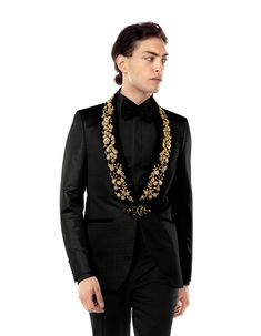 Looking for a custom groom costume? - The costumes Filip Cezar are made in . - Looking for a custom groom costume? – Filip Cezar suits are made to order manually, customized fo - Wedding Blazers, Wedding Suits, Gold Blazer, Striped Blazer, Mens Fashion Blazer, Suit Fashion, Rose Jacket, Suit Jacket, India Fashion Men