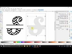 Inkscape - Split a chevron letter and leave a solid white background behind it - YouTube