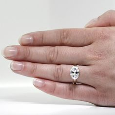 best wedding band for east west oval diamond engagement ring - Google Search