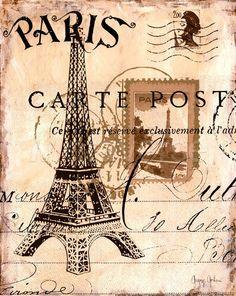 Premium Giclee Print: Paris Collage I - Eiffel Tower Art Print by Gregory Gorham by Gregory Gorham : Decoupage Vintage, Vintage Diy, Vintage Labels, Vintage Postcards, Paris Decor, Paris Art, Paris Theme, Vintage Paris, Images Vintage
