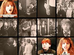 Ron weasly and Hermione granger. Harry potter