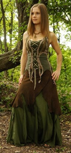 Mystic Wood Elf dress