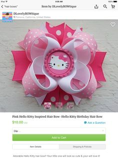Pink Hello Kitty bow