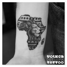 Dotwork African lion