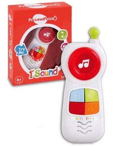 Bontempi - First Sound Baby Phone by Bontempi. $10.07. Battery powered by 2 AA batteries. Fits young hands. Fun to play and encourages creative play. Sturdy construction. Easy to hold. From the Manufacturer                Baby Phone with sound effects. Battery powered by 2 AA batteries. Everyone at Bontempi believes that all children must be able to bring the magical world of play and learning to their lives with the highest quality products. Children are the future.    ...
