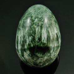 """Seraphinite / Serafina Polished Egg form from Russia, 2.40"""" x 1.71"""" x 1.71"""", weight:  150.6 grams by HandsofSpirit on Etsy"""