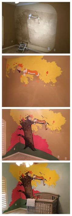 DIY Calvin and Hobbes MuralCalvin and Hobbes is my favorite...