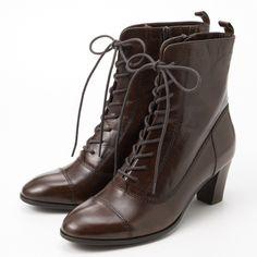 レースアップショートブーツ | サヴァサヴァ(cavacava) | ファッション通販... ❤ liked on Polyvore featuring shoes