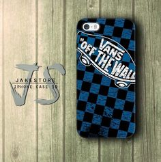Vans Off The Wall Blue Pattern iPhone Case 4 5 6 Plus Hardcase
