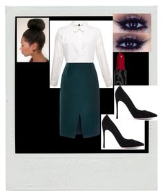 """""""bissness"""" by nitaboo3000 on Polyvore featuring Gianvito Rossi and Nina Ricci"""