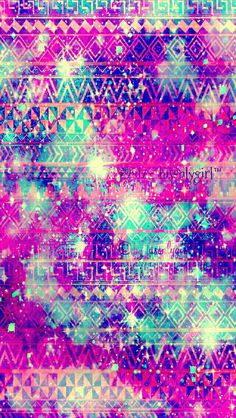 Aztec sparkle galaxy iPhone/Android wallpaper that I  created for the app CocoPPa!