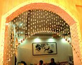 natural crystal beaded curtain, glass beads curtain,home decoration, wedding decoration, party decor, room divider J-088