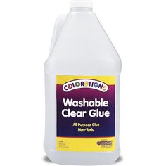 Colorations Washable Clear Glue, Gallon (Item  #ArtsCraftsSewing