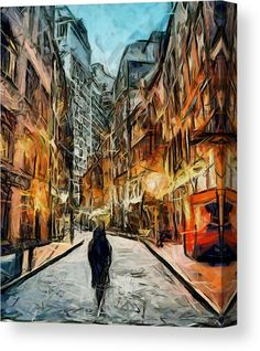 Walking in New York Canvas Print / Canvas Art by Galeria Trompiz New York Canvas, New York Art, Stretched Canvas Prints, Framed Prints, New York Street, Abstract Styles, Buy Prints, Canvas Art, Abstract Canvas
