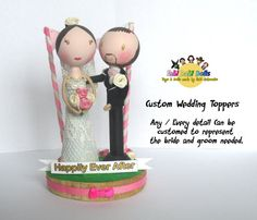 Wedding Toppers  Made to your request completely  by totallyfabi