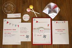 "BluebellsDesign: ""let's party"" wedding stationery"