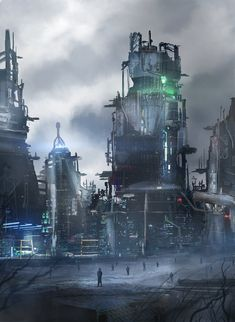 Tagged with art, storytime, cyberpunk, scienceandtechnology; Cyberpunk City, Futuristic City, Futuristic Architecture, Fantasy City, Fantasy World, Painting Digital, Sci Fi City, Sci Fi Environment, Cities