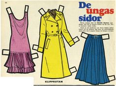 Paper doll clothes. #paper