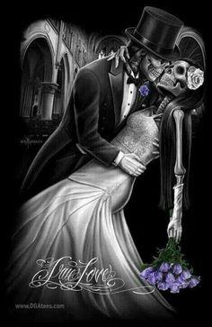 Dark Love, Canvas Art, Canvas Prints, Skull Art, Cool Websites, Statue, Skulls, Art Work, Artwork