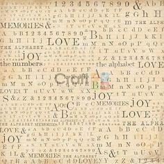 Tovagliolo Carta di riso Texture Alphabet