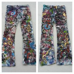 Painted Jeans by artist Matt Pecson