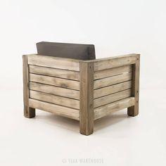 rustic teak outdoor chair
