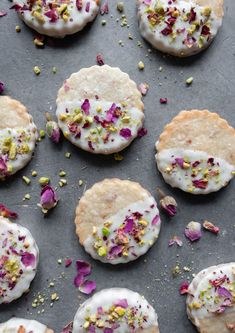 Rose Shortbread Cookies   Milk & Cardamom Buttery Shortbread Cookies, Shortbread Biscuits, Cookies Et Biscuits, Cookie Flavors, Cookie Recipes, Dessert Recipes, Rose Cookies, Flower Cookies, Valentine's Day Quotes