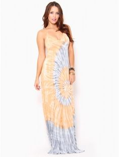Tie Dye Maxi #Dress