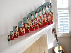 These Russian dolls make me so happy!  Reminds me of my childhood and the set I used to have.  Wish I knew where they were....    sunday by sweet sweet life, via Flickr