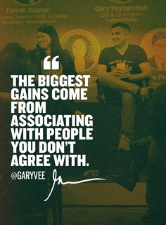 "Pay attention to others .. Even if you are #emotional about the subject matter and you didn't ""grow up"" being taught that ... Not just surrounding yourself with ""yes"" friends or with people that agree with you on everything. I appreciate the people at VaynerMedia and other things I am involved with who passionately disagree with me .. I love listening and I love the ""I told you so"" when I end up being right ;) #businessgoals #lifegoals"