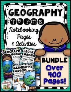 #affiliate Geography Terms Bundle - Notebooking www.nook.com