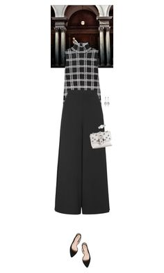 """""""Outfit of the Day"""" by wizmurphy ❤ liked on Polyvore featuring Proenza Schouler, Topshop, Tory Burch, Paula Cademartori, Axenoff Jewellery, Marc by Marc Jacobs, ootd and plaid"""