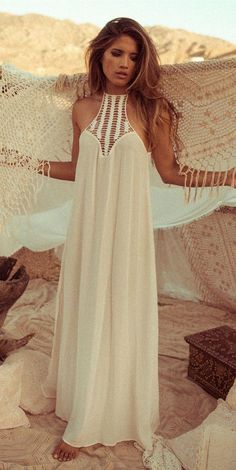 Boho dress perfect for my honeymoon. Pure and modest but sensual and sexy