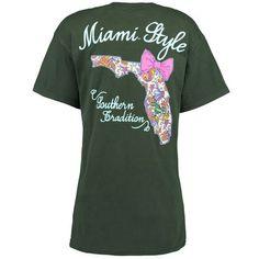 Miami Hurricanes Women's Bright Bow Team Pride T-Shirt - Green