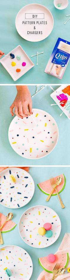 DIY Confetti Pattern Placemats