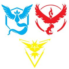 Pokemon Go Team Decals by TheCreativeSpark2 on Etsy
