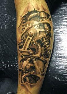 Biomechanik Tattoo - Ideen und inspirierende Bilder