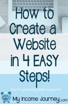 How to create a website in 4 easy steps. Detailed tutorial on how to make a website or blog using Word Press, how to buy your domain, what hosting company I use, and how to make money from home. No programming skills needed!