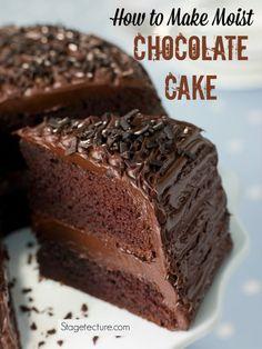 How to make moist chocolate cake recipe. #chocolate #recipe