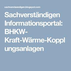 Sachverständigen Informationsportal: BHKW- Kraft-Wärme-Kopplungsanlagen