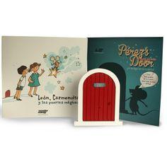 """www.cornergp.com Invita a que el Ratoncito Pérez entre en tu cuarto, colocando esta puertecita encima del rodapié, escondida en una estantería, o ¡en cualquier lugar secreto de tu habitación! Una vez colocada, el Ratoncito Pérez podrá entrar para recoger tu diente y dejarte una sorpresa. """"La Puerta para el Ratoncito Pérez"""" se vende conjuntamente con el cuento """"León, Carmencita y las Puertas Mágicas"""" Cada """"Pérez´s Door"""" viene empaquetada en una bonita caja"""