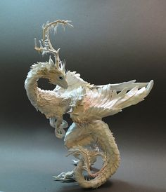 White Moss and Mushroom Dragon by creaturesfromel on Etsy. Amazing artwork!!!