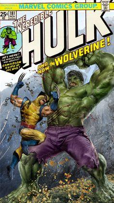 Hulk vs Wolverine WIP by uncannyknack.deviantart.com on @DeviantArt