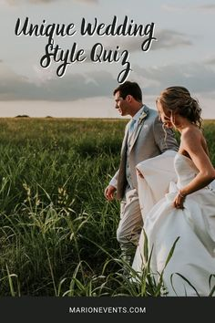 Congrats on your engagement! Now that it's time to get to wedding planning, what style are you thinking? Whether boho, whimsical, romantic, modern, or I have no clue, were your first thoughts, then don't worry, we've got you covered! Take this unique wedding style quiz to find the perfect vibe for your special day!#weddingplanning #marionmatrimonyevents #stylequiz #uniquewedding Nontraditional Wedding Ceremony, Romantic Wedding Flowers, Romantic Wedding Inspiration, Wedding Ceremony Flowers, Bohemian Wedding Decorations, Wedding Themes, Wedding Tips, Wedding Couples, Wedding Styles
