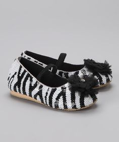 Take a look at this Black & White Flat by Fairy Dreams on #zulily today!